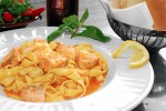 Qadmous - Tagliatelle with salmon filet