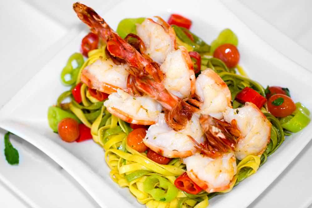 Qadmous - Tagliatelle with prawns