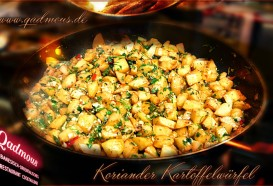 Koriander Kartoffelwürfel | Libanesische Küche | Restaurant Berlin Mitte