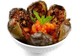 Batinjan Makdous | Gefüllte mini Auberginen | Libanesische Küche Berlin | Qadmous
