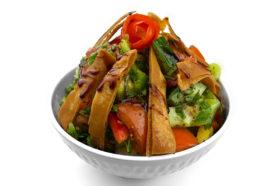 Fattoush Salat | Frittiertem Fladenbrot | Libanesische Küche Berlin | Qadmous