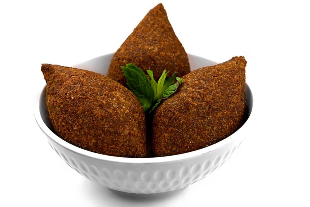 Kibbeh Mekliye | Klöße aus Bulgur und Hackfleisch | Libanesische Küche-berlin
