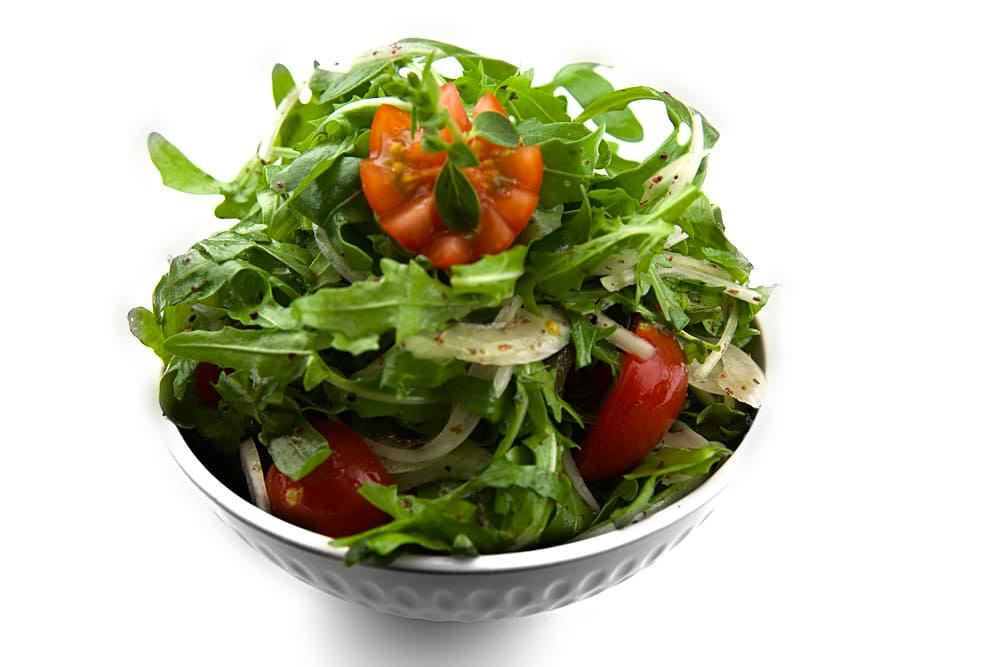 Rocca Zaatar Salat | Thymianblätter und Rucola | Libanesische Küche Berlin